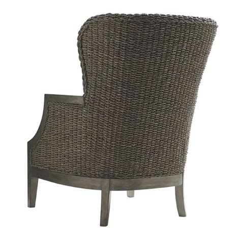 Wicker Accent Chair Oyster Bay Seaford Wicker Accent Chair In Gray Plaid 01 1778 11 60
