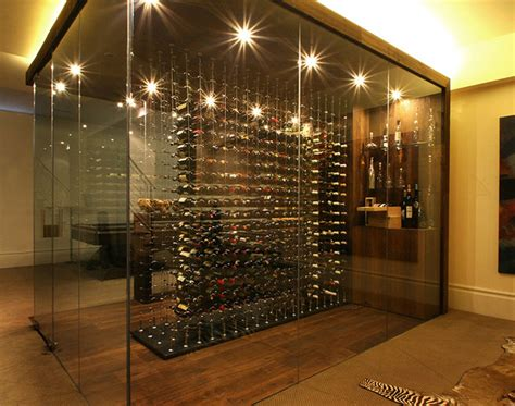 Contemporary Crystal Dining Room Chandeliers by 31 Modern Wine Cellar Design Ideas To Impress Your Guests