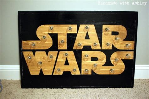 Cost To Build Home Plans diy star wars marquee wall art tutorial handmade with ashley