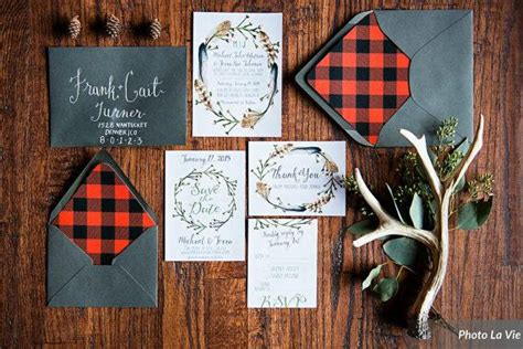 woodsy themed wedding invitations woodsy rustic wedding invitation set with invitations