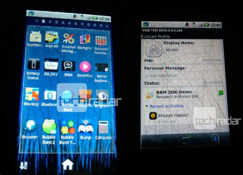 bbm messenger for android 首張 blackberry messenger for android 截圖曝光 techorz 囧科技
