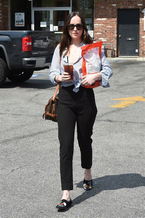 puppy store los angeles dakota johnson dakotajohnson in casual attire shopping at a pet store in los