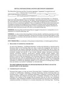 Ndnc Agreement Letter 100 Non Circumvention Non Disclosure Agreement Template 5 Employee Non Disclosure