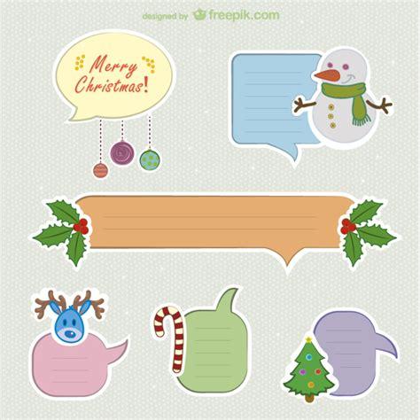 Stiker Natal Sticker 2 stickers template vector free