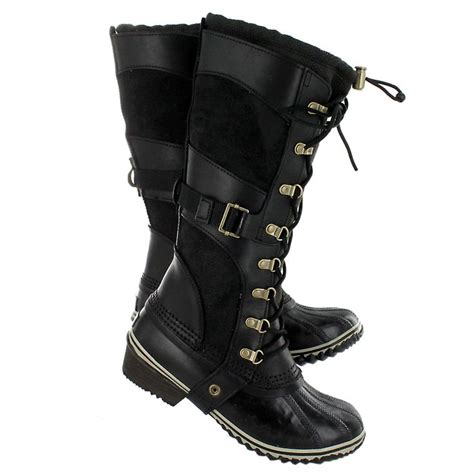 sorel boots on sale sorel s conquest boots in black or brown on