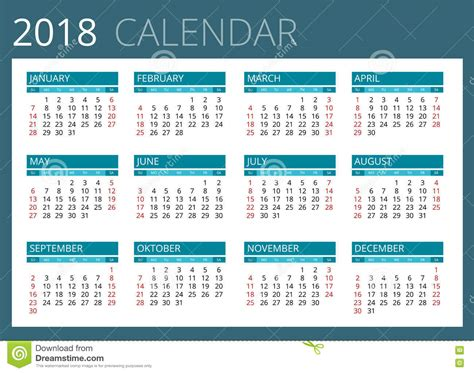 Calendar 2018 In Weeks Week 27 Calendar 2018 Printable Calendar 2018