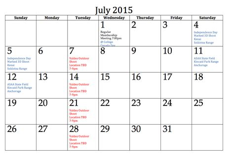 monthly calendar template 2015 word friends and relatives records