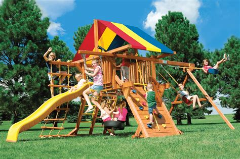 rainbow castle swing set sunshine castles swing sets rainbow play systems