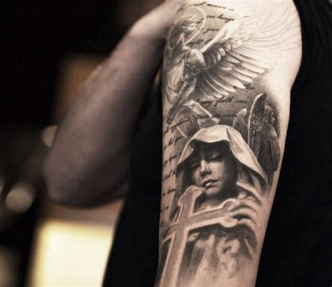 realistic angel tattoo designs 25 terrific design ideas golfian