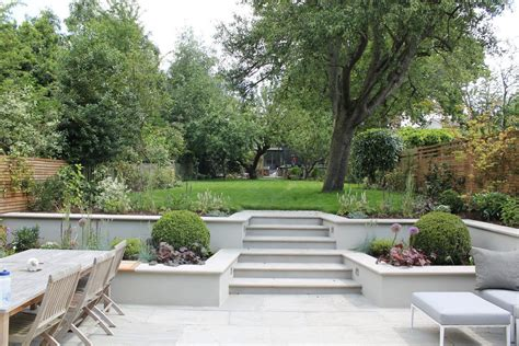 Split level backyard ideas landscape contemporary with spacious garden sawn sandstone stepping
