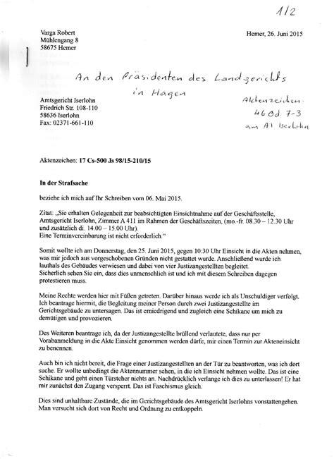 Brief Antrag Auf Elternzeit Antrag Auf Akteneinsicht Strafprozes 2015 2016