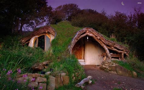 hobbit houses hobbit house wales wallpaper