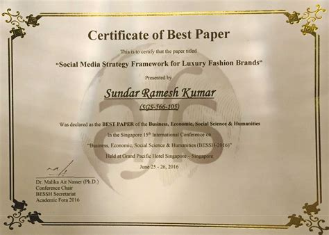 Mba Best Conference 2016 by Msruas Student Achievements