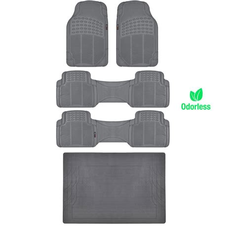 How To Remove Rubber Smell From Car Mats by Bpa Free No Smell Rubber Floor Mats Set Heavy Duty Runners