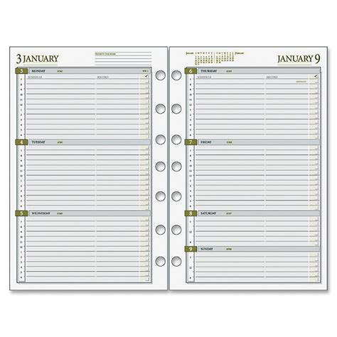 free printable day runner pages day runner dated planner refill julian weekly