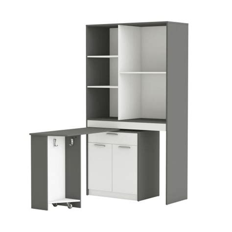 White Kitchen Display Cabinet by Hyttan Kitchen Display Cabinet In White And Graphite Grey