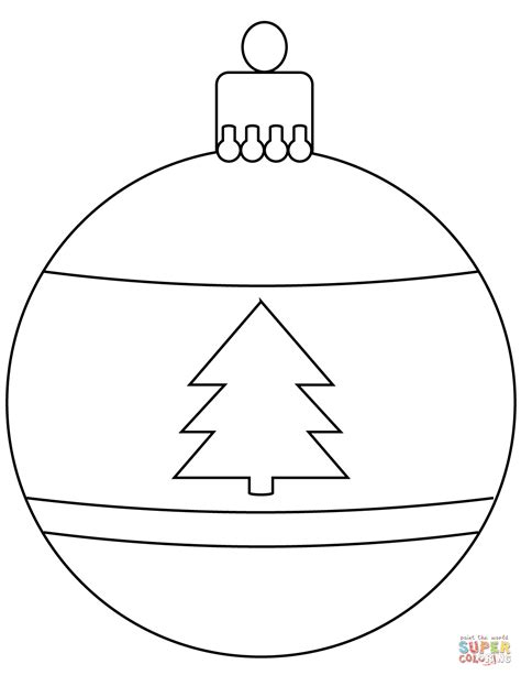 christmas bauble ornament coloring page free printable