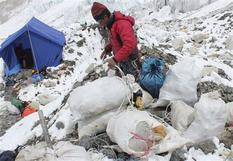 rob leiche the bid to remove a mountain of trash from everest