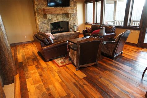 Reclaimed Wood Living Room by Reclaimed Wood Flooring Traditional Living Room