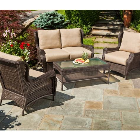 wicker home and patio furniture bar harbor 4 wicker by alfresco home