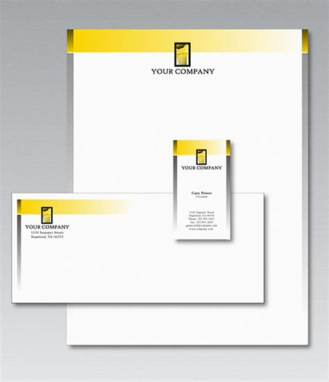 free stationery design template vector free download