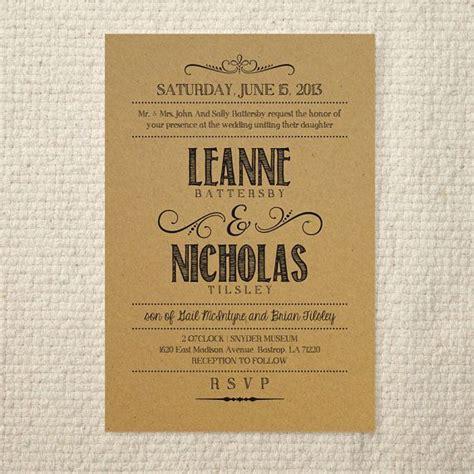 lettered rustic diy kraft paper wedding