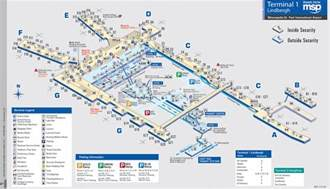 msp map airport map of minneapolis st paul international airport terminal 1 created by funnel