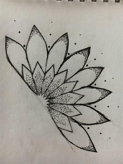 half mandala tattoo half mandala dotwork tatoo mandala