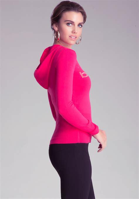 Jaket Sweater Hoodie Insight 1 bebe logo confetti hoodie in pink lyst