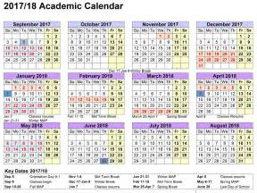 2017 And 2018 School Calendar School Calendar 2017 2018
