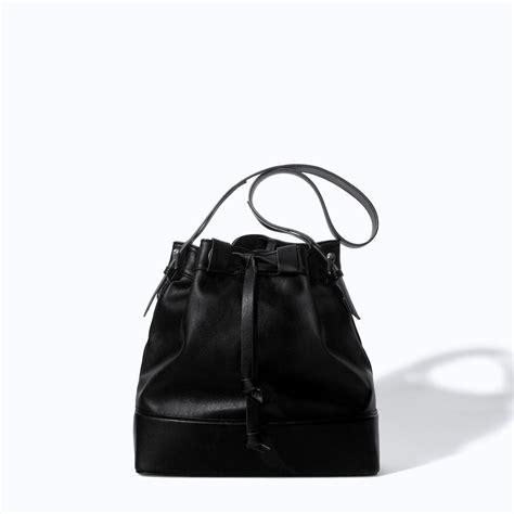 Zara Bag Black zara drawstring bag in black lyst