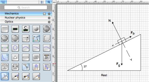 use diagram maker drawing physics illustrations conceptdraw helpdesk