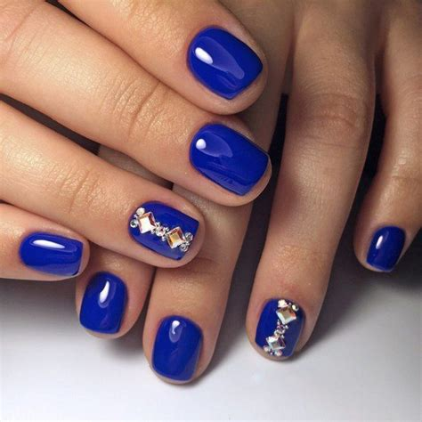 Nail Color Blue