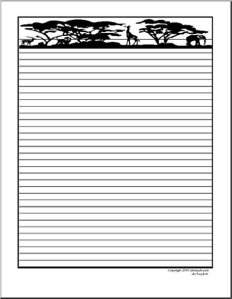 printable animal lined paper pics for gt zoo border paper