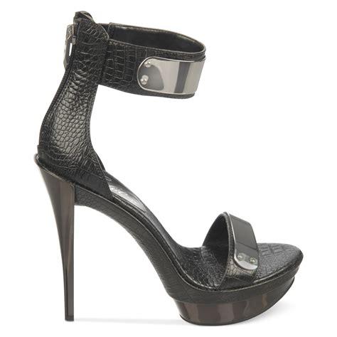 fergie sandals fergie two sandals in black black alligator