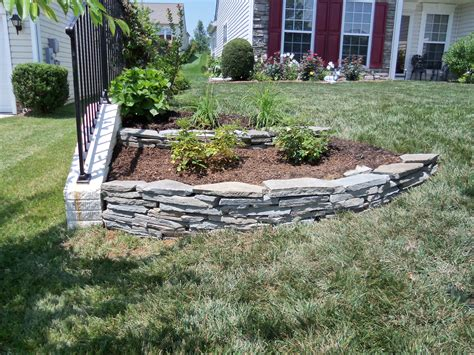 small yard landscaping ideas 5682 stack rock wall in front yard stafford nursery