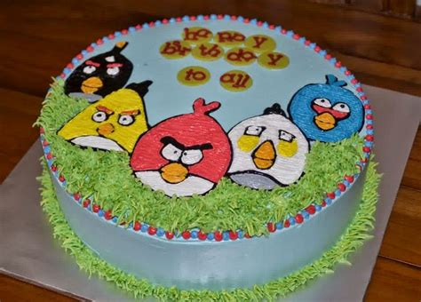 cara buat kue ulang tahun karakter resep kue ulang tahun angry bird praktis dirumah resep