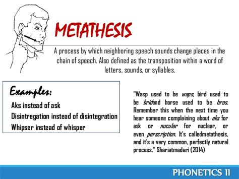 Metathesis Process by Phonological Processes Phonetics Ii
