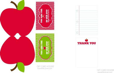 printable apple gift cards 17 best images about teacher appreciation on pinterest