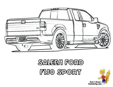 F150 Coloring Page by American Truck Coloring Sheet Free Truck