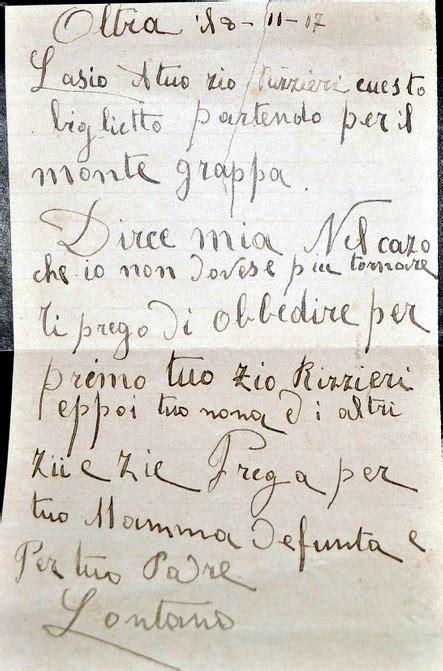 lettere dal fronte prima guerra mondiale i guerra mondiale alpini carvico sezione di bergamo