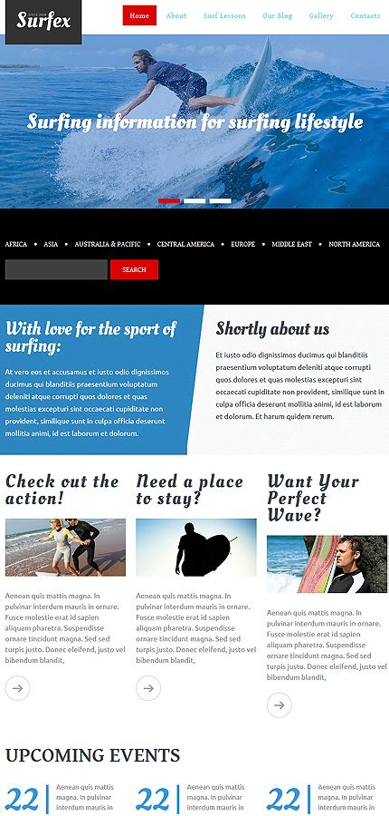 surfing responsive drupal template 54965