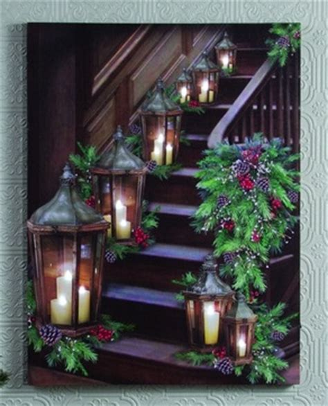 lighted canvas christmas pictures lighted canvas pictures quot stairway quot