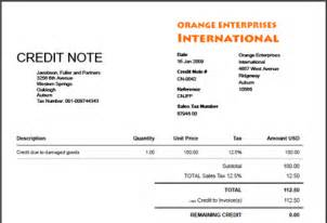 Credit Invoice Template by Blank Credit Note Blankinvoice Org