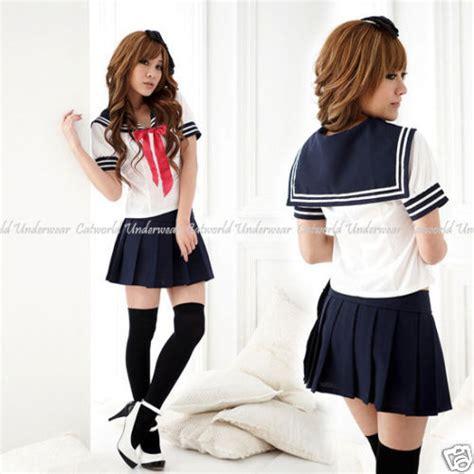 preteenl japanese japan school uniform japanese high school cosplay sailor uniform classic