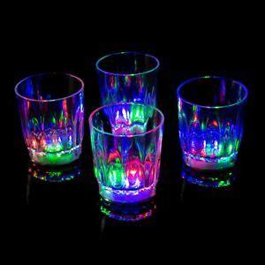 Led Barware by 48 Plastic Led Glasses Light Up Luminous