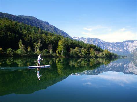 slovenia lake lake bohinj sup slovenia discovery