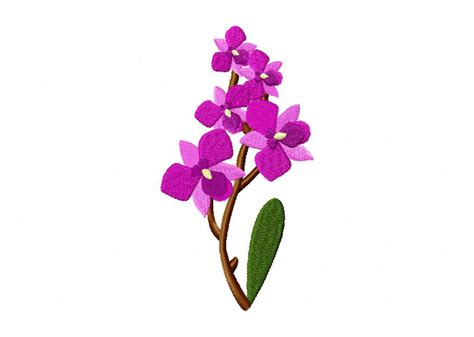 orchid flower machine embroidery design daily embroidery
