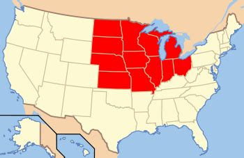 us midwest region map ir midwestern united states the free