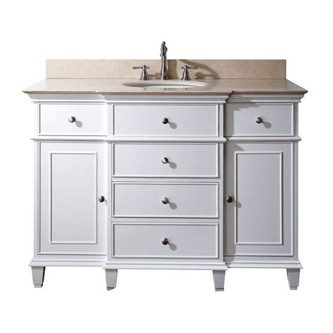White Modern Bathroom Vanity by Avanity 48 Quot Bathroom Vanity White Free